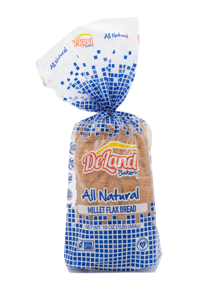 All Natural Millet Flax Bread Front - Millet Based - Simple Ingredients